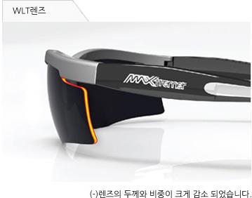 WLT 렌즈 (-)렌즈의 두께와 비중이 크게 감소 되었습니다.